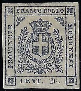 1859 - 20 cent. ardesia violaceo ...